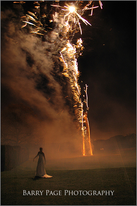 Wedding Fireworks by Barry Page