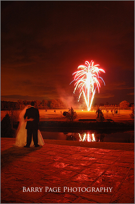 Mannings Heath Wedding Fireworks by Barry Page
