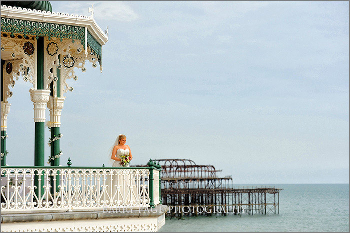 Brighton Bandstand Wedding & West Pier by Barry Page