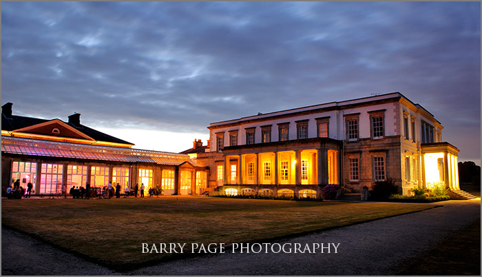 Buxted Park Wedding at Night by Barry Page