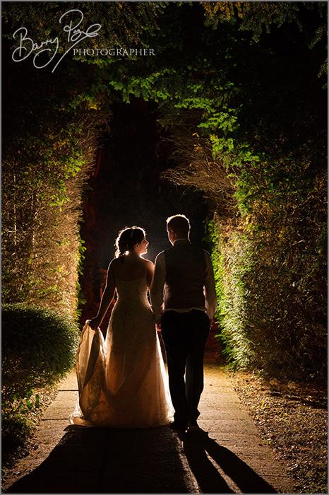 romantic wedding night shot