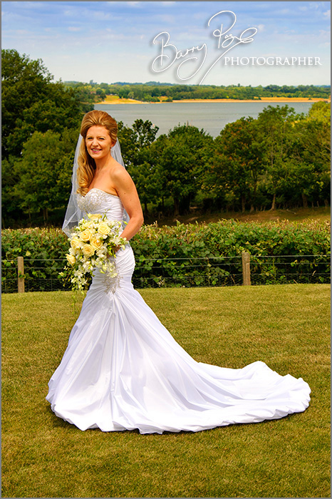 Beautiful bride in a beautiful location