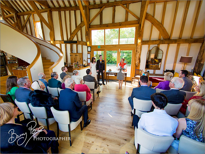 Wedding Photography at The Barn at Roundhurst by Barry Page