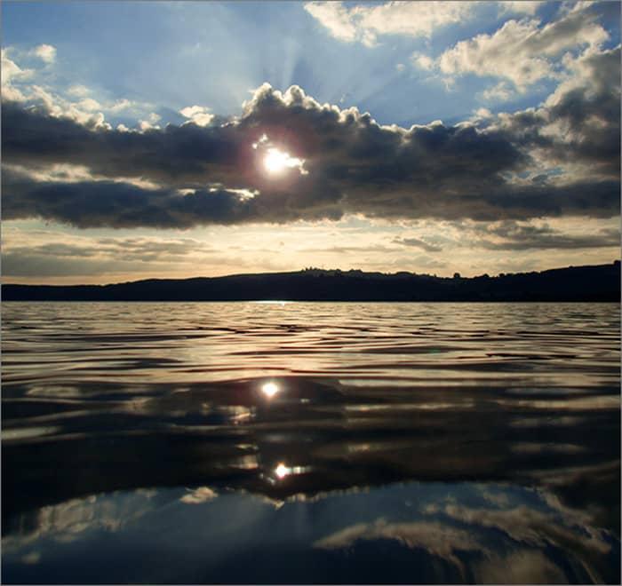 New Zealand travel Lake Taupo Sunset