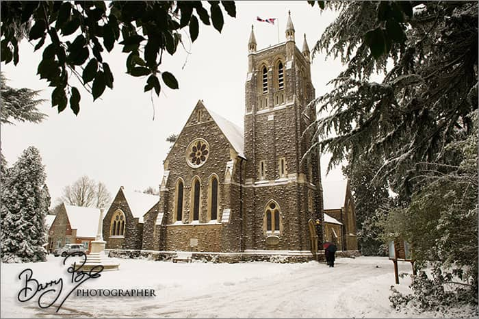 st mary's church sevenoaks in snow