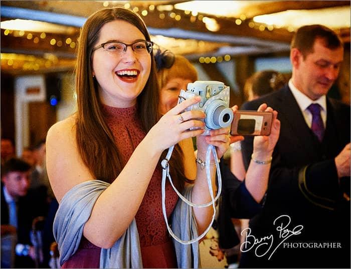 Polaroid Camera Wedding Photographer