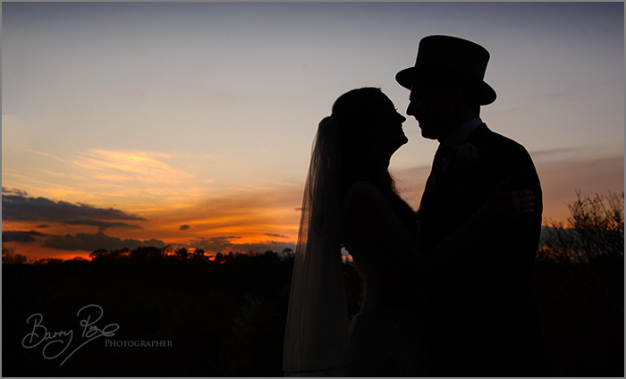 Wedding Sunset by Barry Page Photographer at High Rocks