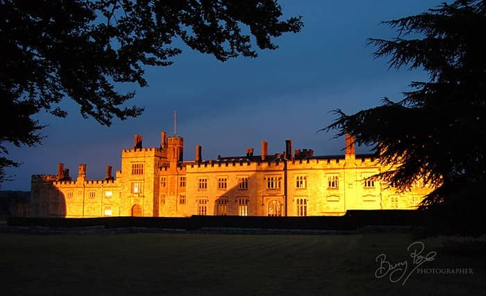 penshurst place at night exterior illuminated
