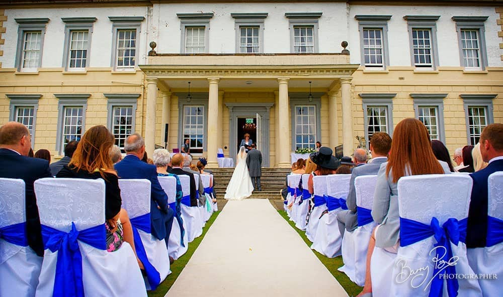 outdoor ceremony at buxted park sussex