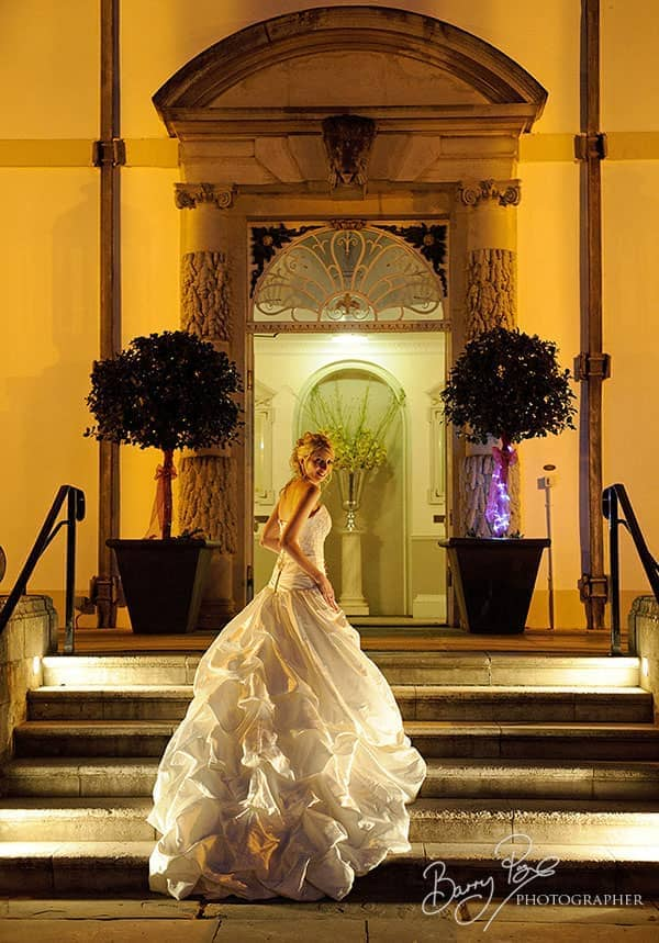 buxted park bride at night