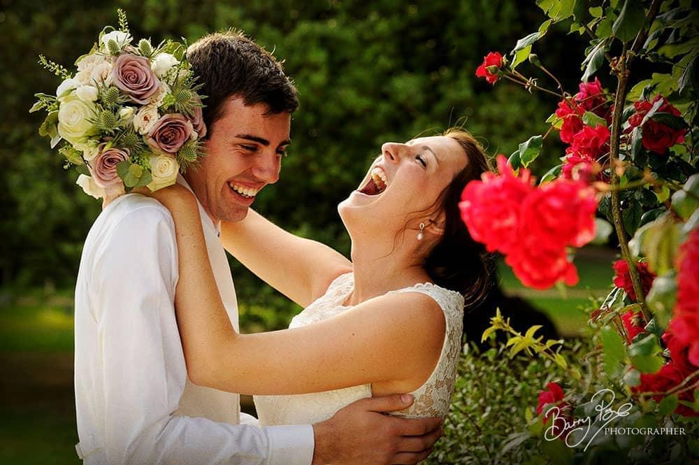 bride big laugh