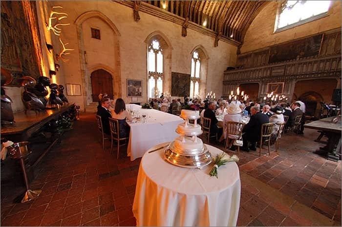 great hall penshurst place cake foreground