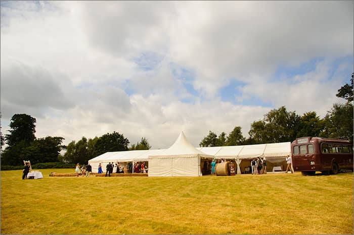 marquee in field penhurst