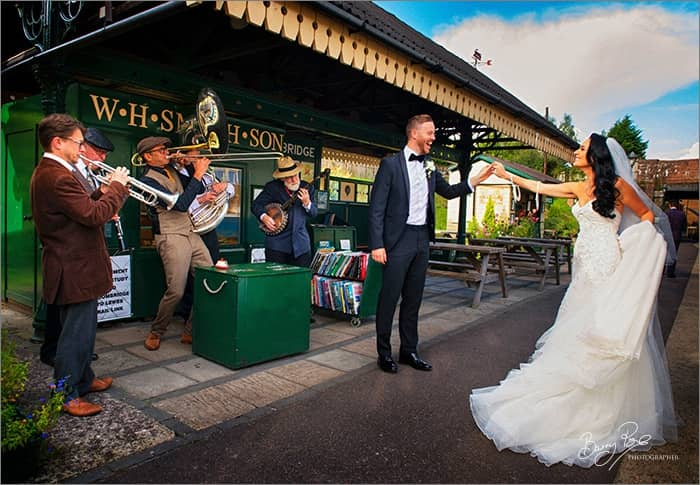 Carly and Ben dance at Groombridge Station