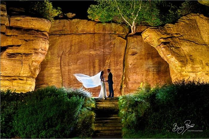 high rocks night lights wedding photographer